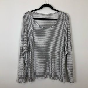 Eileen Fisher longsleeve boxy organic cotton top L
